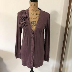 NWT Loft long sleeves cardigan sweater Size M